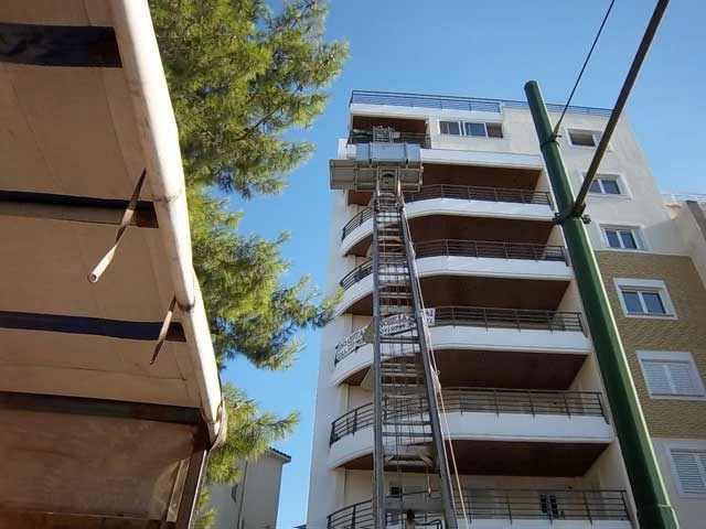 ΜΕΤΑΦΟΡΙΚΗ ΠΑΤΡΑΣ - Ανυψωτική πλατφόρμα μετακομίσεων 28 μέτρα 9ος όροφος